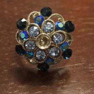 🍓 sparkle ring blue crystal (bundle only) 🍓